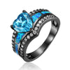 March Black Gold Filled Heart Birthstone Ring - GearBody
