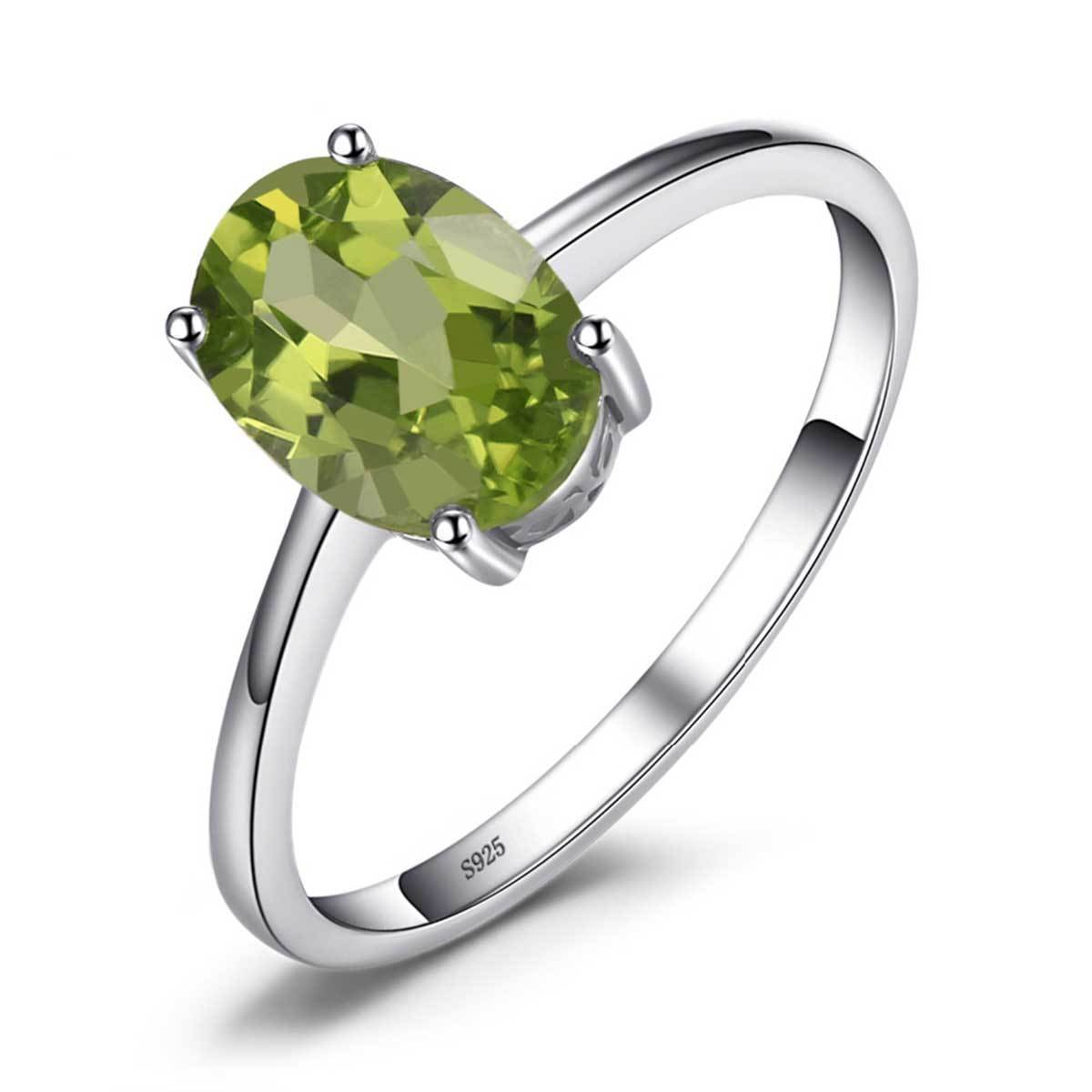 August Peridot Ring (925 Sterling Silver) - GearBody
