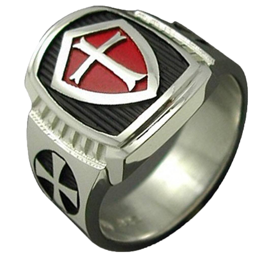 ring with rings style cross en silver iron fly a sterling templar freemason