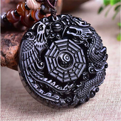 Obsidian Chinese Dragon Necklace - GearBody
