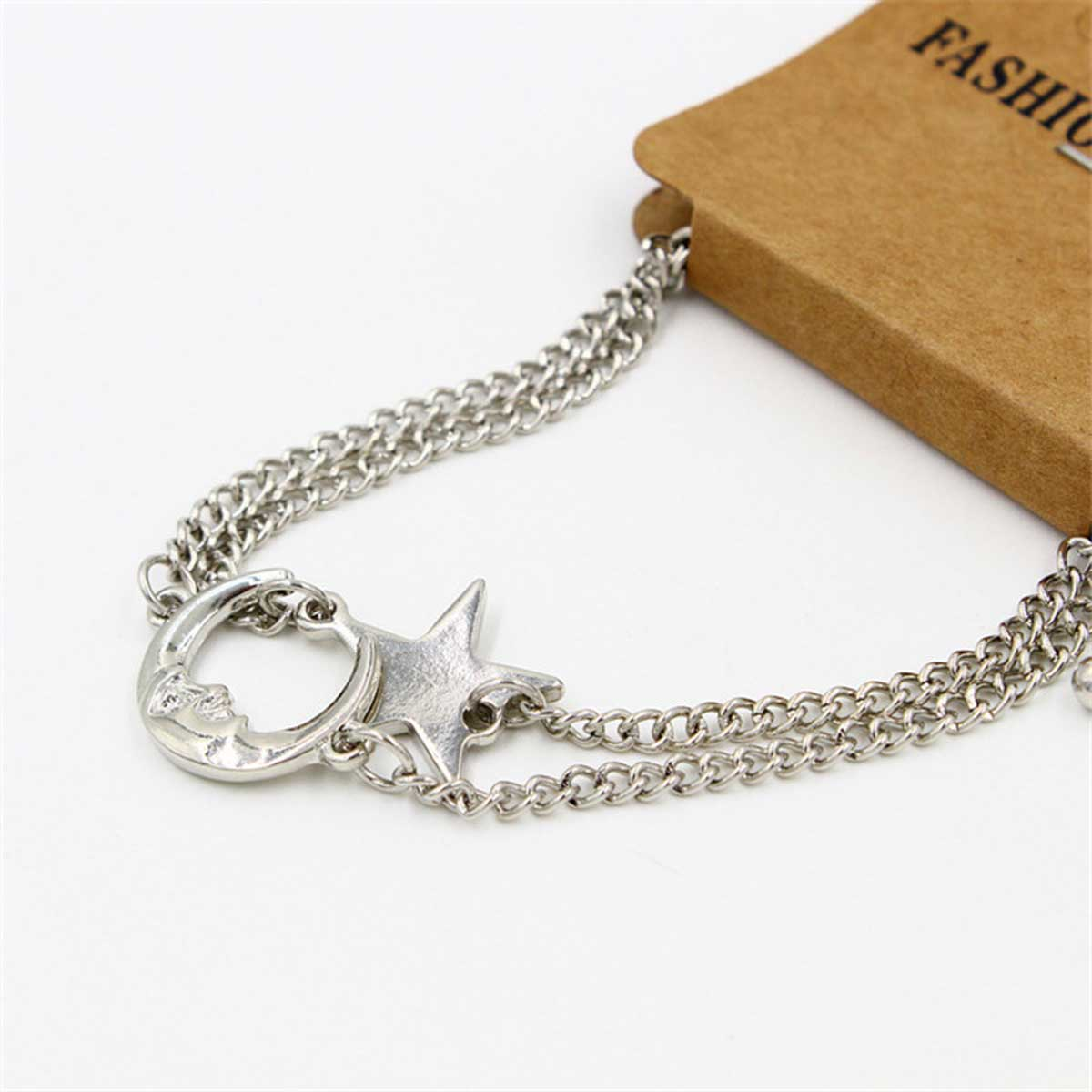 Silvery Moon and Star Romantic Couples Bracelet 2 Pcs Set - GearBody