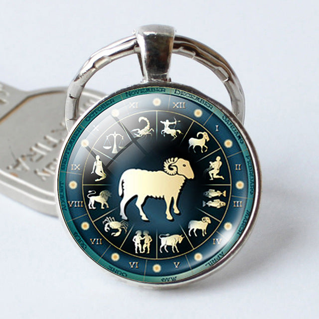 Silver Plated Zodiac Keyring - GearBody