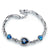 Blue Heart Link September Bracelet