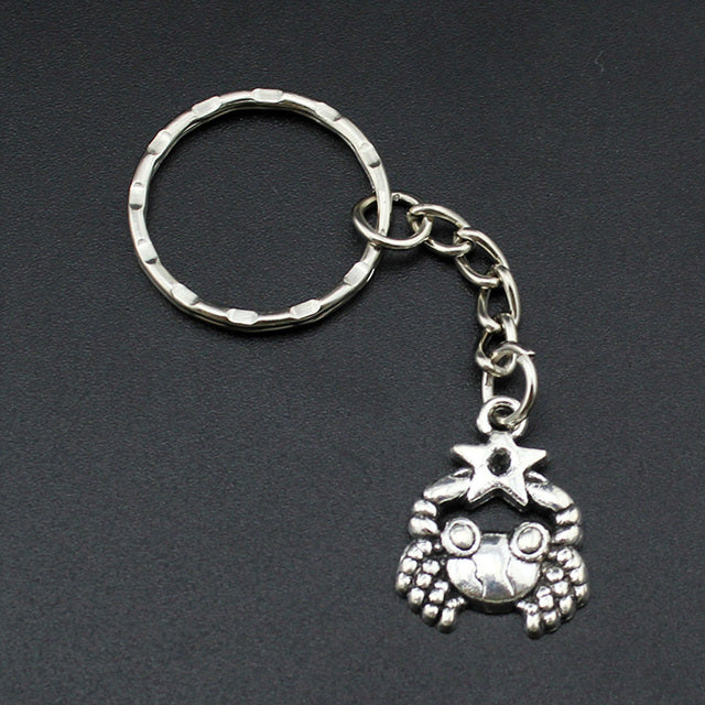 Handmade Silver Cancer Keyring - GearBody