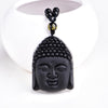Natural Obsidian Buddha Head Pendant - GearBody