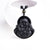 Obsidian Laughing Buddha Necklace