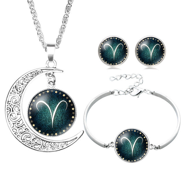 Premium Zodiac 12 Constellation Bracelet Necklace Set - GearBody