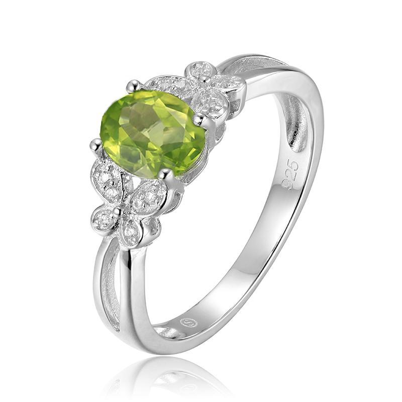 August Peridot Oval Manchurian Ring - GearBody