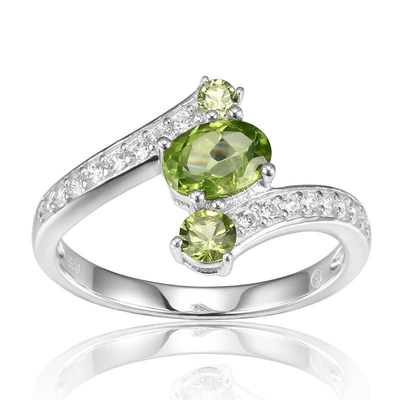August Peridot Manchurian Peridot 925 Sterling Silver Ring - GearBody