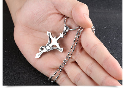 Libra Stainless Steel Cross Zodiac Necklace - GearBody