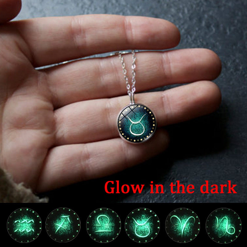"""The Gloziac"" Glow In The Dark Zodiac Necklace - GearBody"