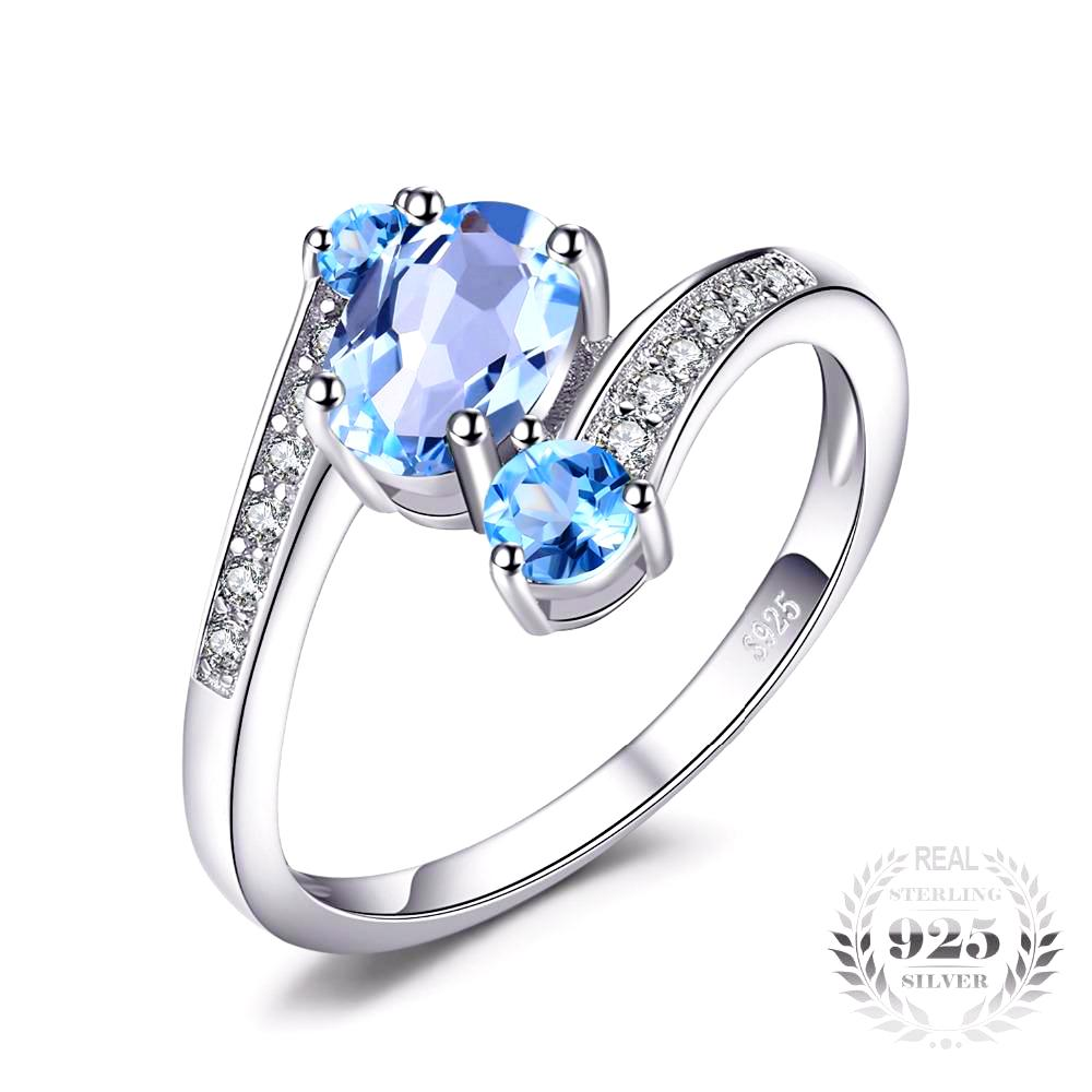 "Sagittarius ""Natural Sky"" Blue Topaz 2.48ct Ring - GearBody"