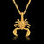 Unique Gold Scorpio Necklace - GearBody
