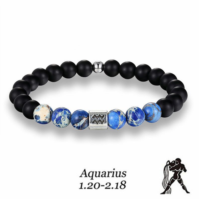 Aquarius Blue Earth Stone Bracelet - GearBody