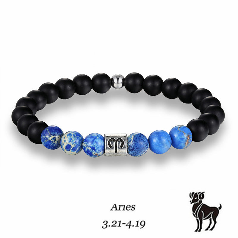 Aries Blue Earth Stone Bracelet - GearBody