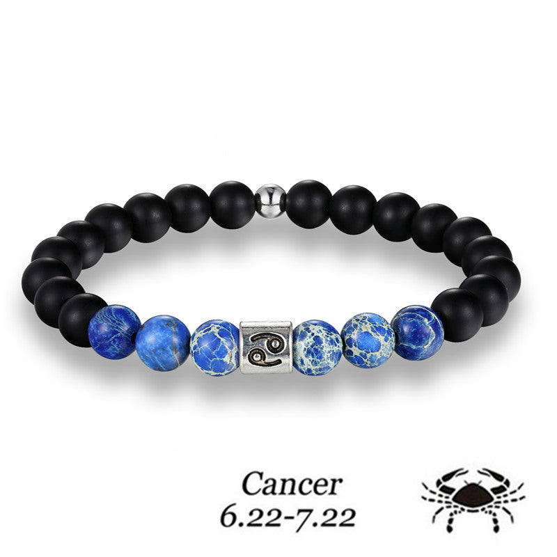 Cancer Blue Earth Stone Bracelet - GearBody