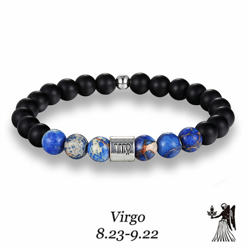 Virgo Blue Earth Stone Bracelet - GearBody
