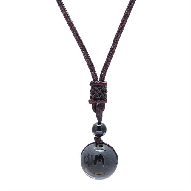 Sword Black Obsidian Necklace - GearBody