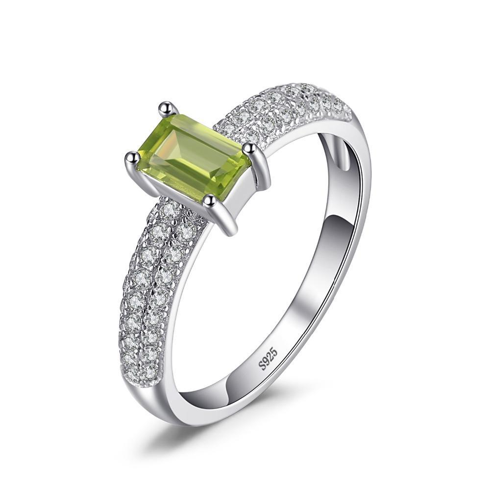 August Peridot Classic Emerald Cut Ring - GearBody