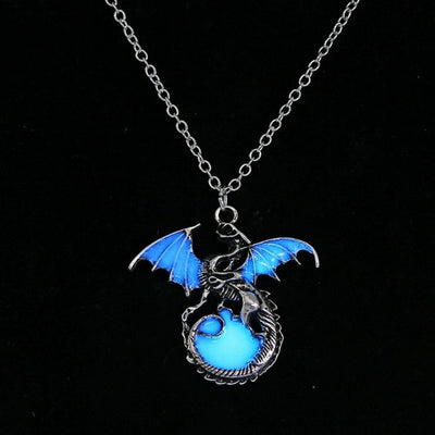Retro Dragon Glow in the Dark Necklace - GearBody