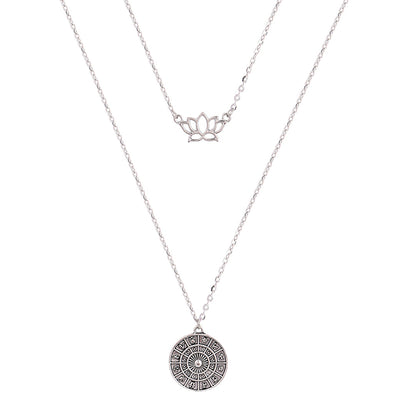 Lovely Lotus Zodiac Double Layer Necklace - GearBody