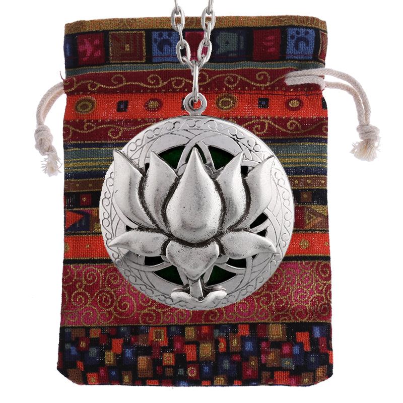 Lotus Flower Essential Oil Diffusing Locket Necklace - GearBody