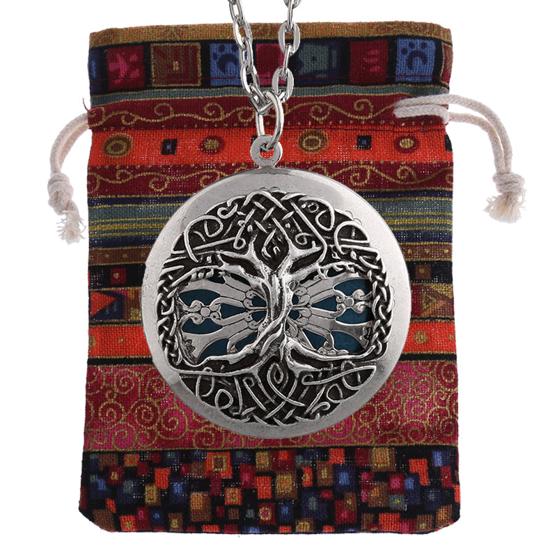 "Earth ""Tree of Life"" Essential Oil Diffusing Locket Necklace - GearBody"