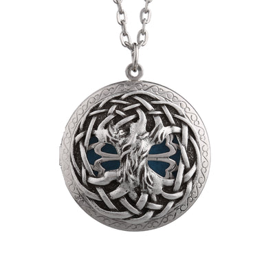 "Celtic Knots ""Tree of Life"" Essential Oil Diffusing Locket Necklace - GearBody"