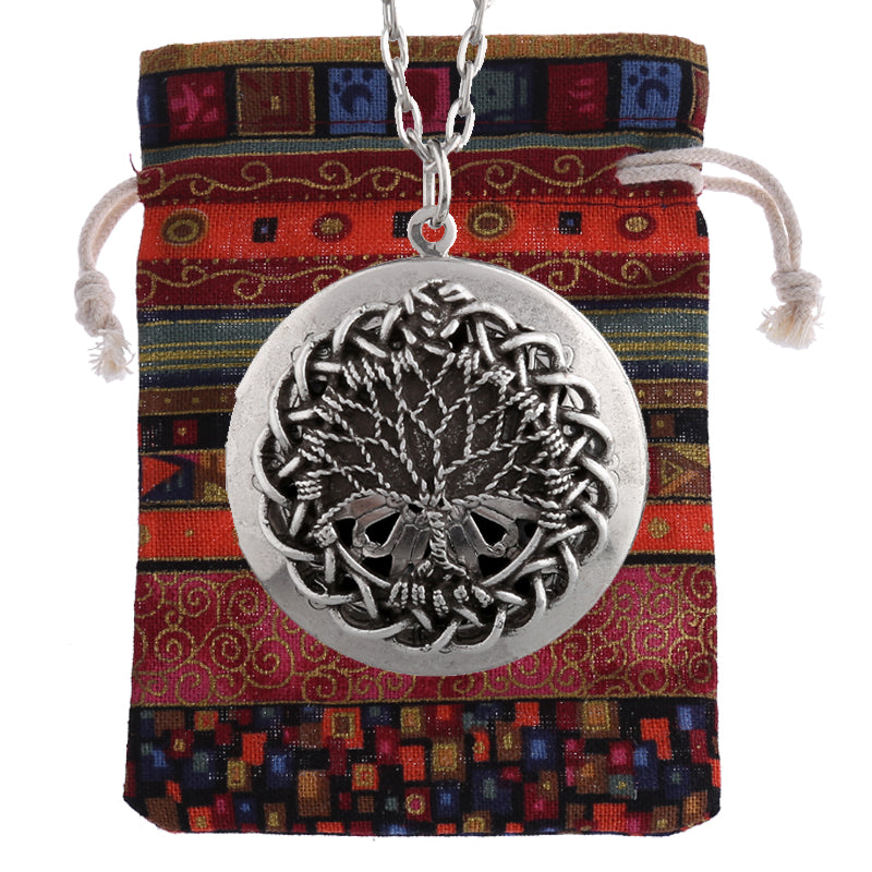 "Twist Knots ""Tree of Life"" Essential Oil Diffusing Locket Necklace - GearBody"