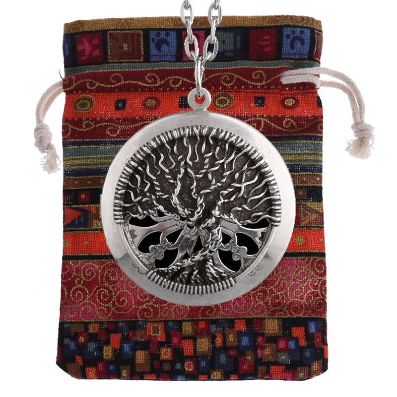 "Twisting ""Tree of Life"" Essential Oil Diffusing Locket Necklace - GearBody"