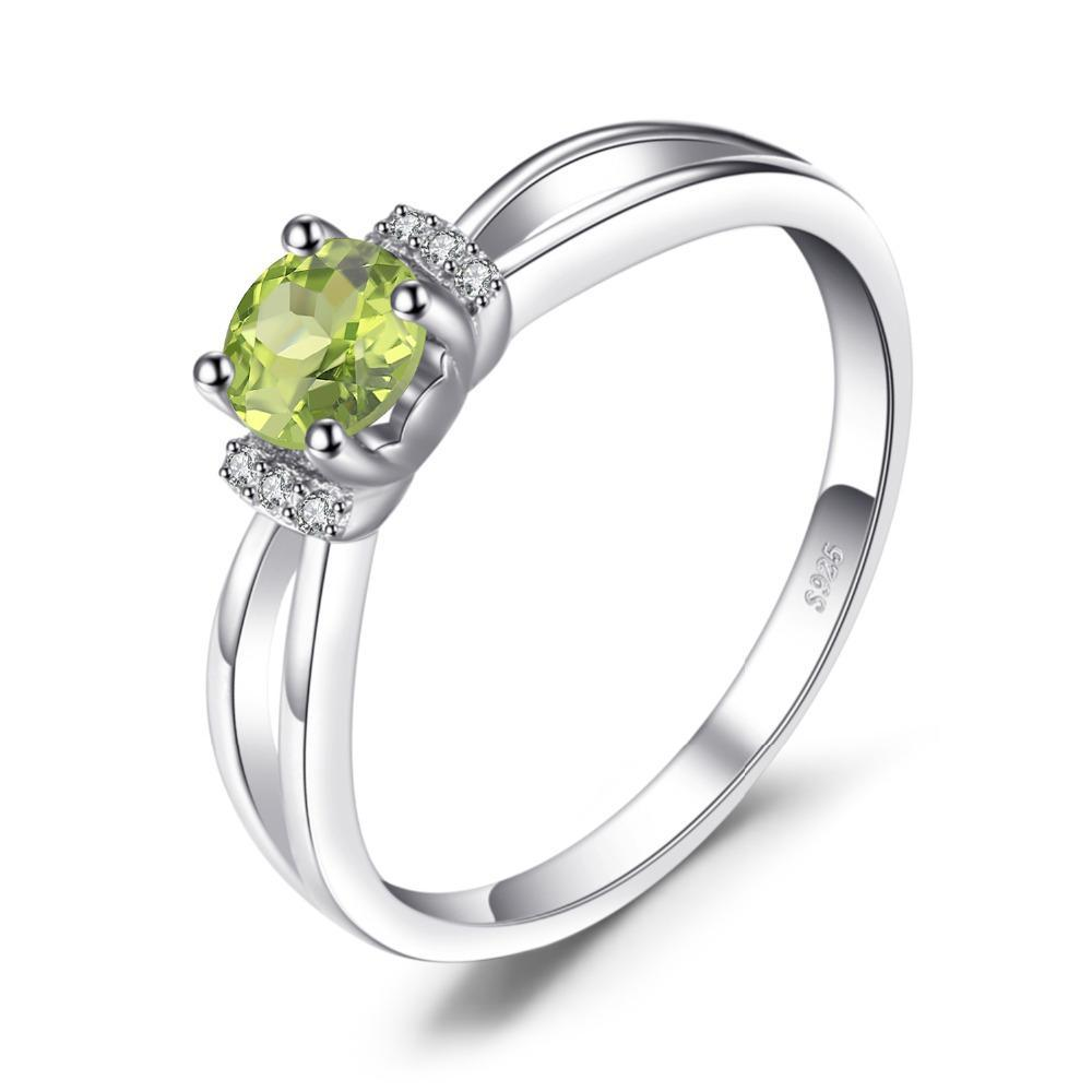 August Peridot Round Natural Ring - GearBody