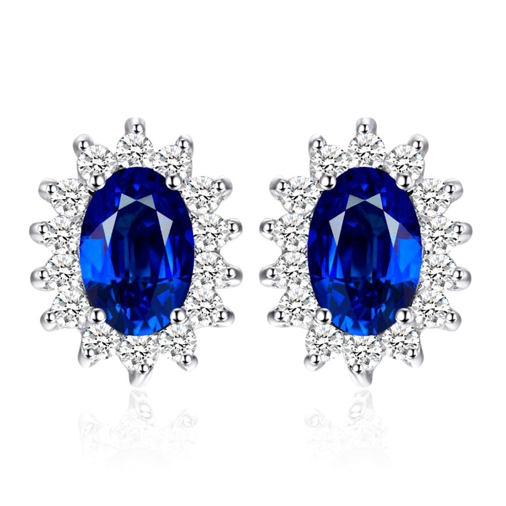 September Sapphire Classic Princess Earrings - GearBody