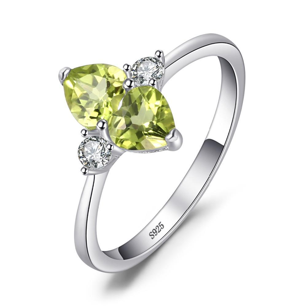 August Peridot Love Heart Cluster Ring - GearBody