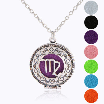 Zodiac Essential Oil Diffuser Locket - GearBody