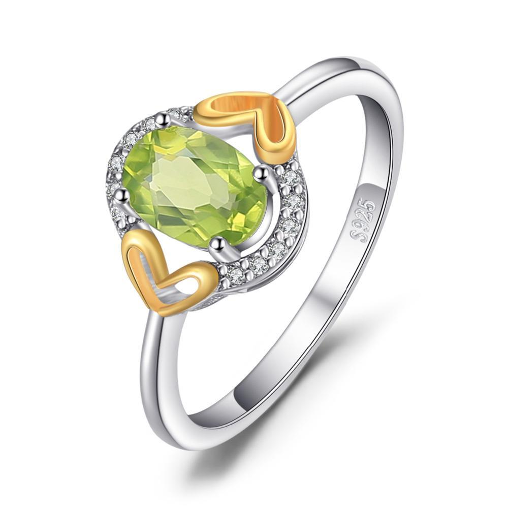 August Peridot Luxury Hearts Ring - GearBody
