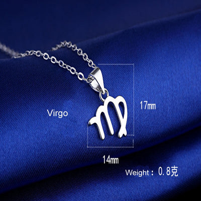 Virgo Silver Plated Zodiac Necklace - GearBody