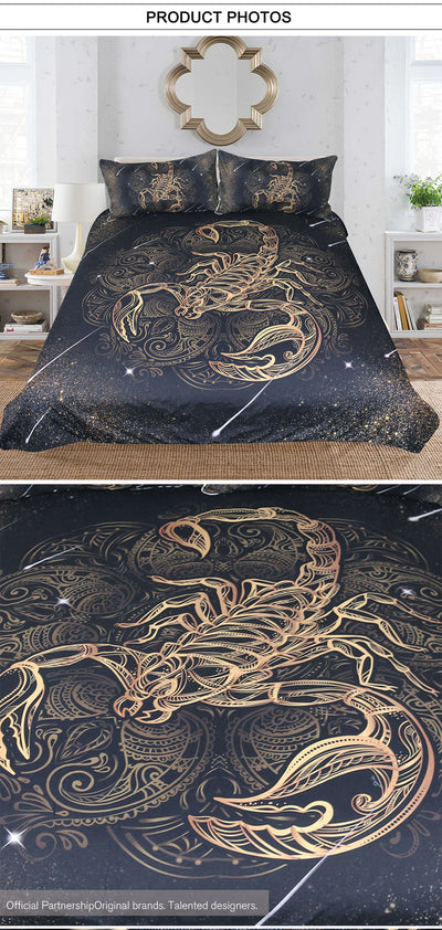 Super Gold Scorpion Bedding Set - GearBody