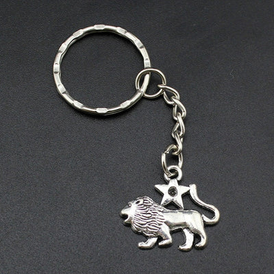Vintage Silver Zodiac Key Chains Key Rings - GearBody