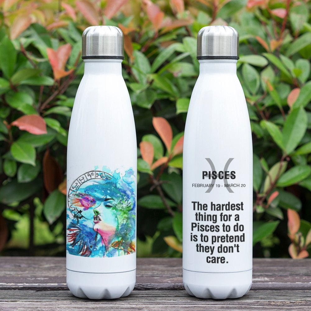 Pisces Zodiac Printed Vacuum Thermos Bottle - GearBody