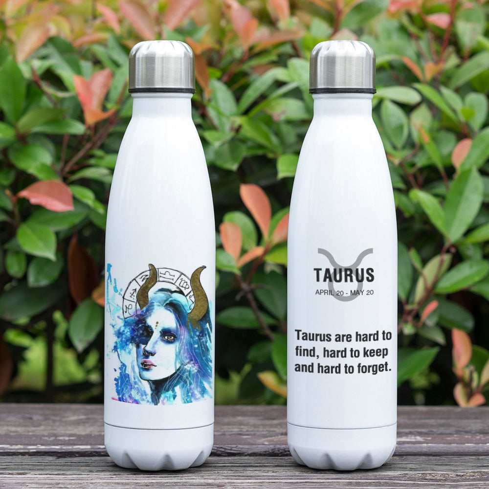 Taurus Zodiac Printed Vacuum Thermos Bottle - GearBody
