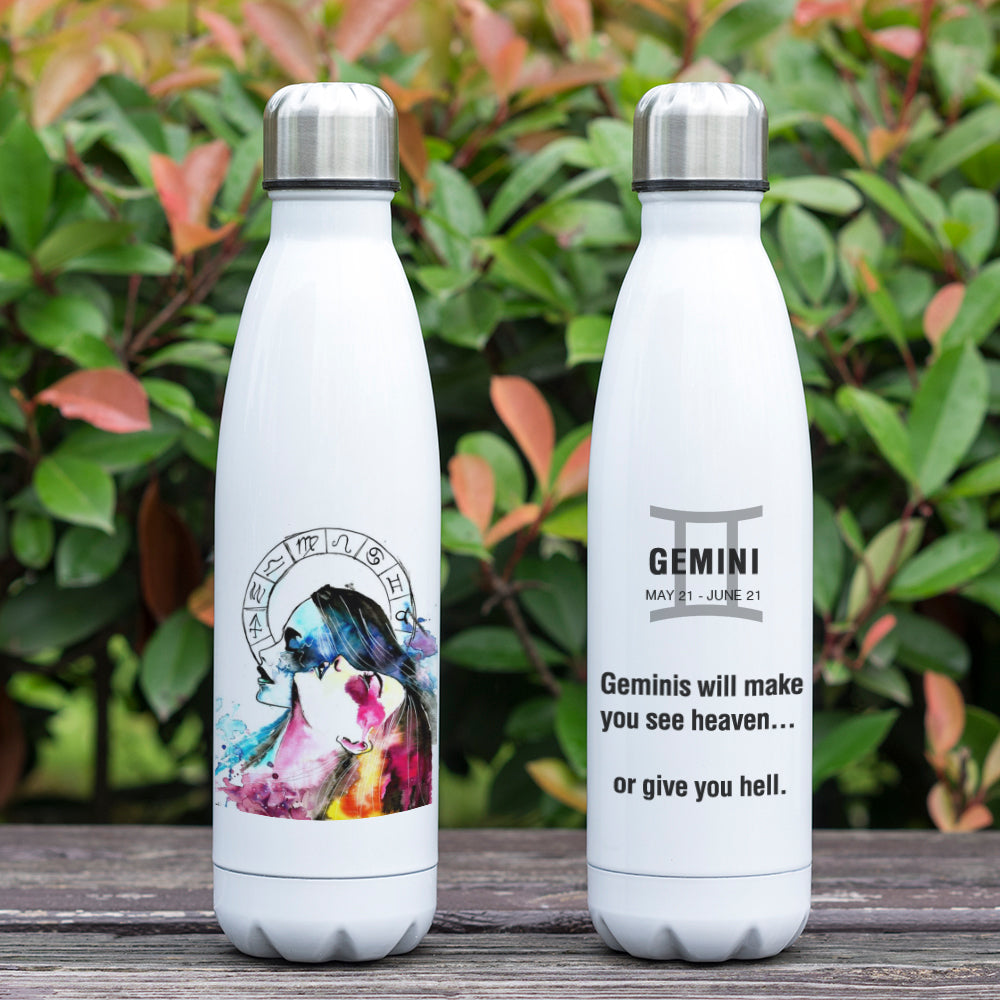 Gemini Zodiac Printed Vacuum Thermos Bottle - GearBody