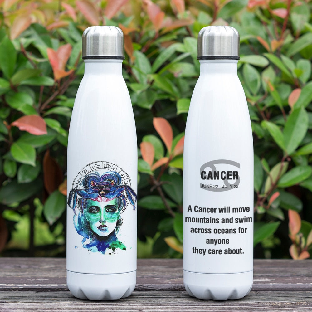 Cancer Zodiac Printed Vacuum Thermos Bottle - GearBody