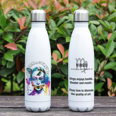 Virgo Zodiac Printed Vacuum Thermos Bottle - GearBody