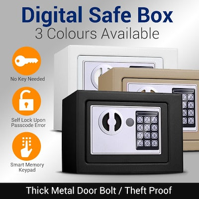 Electronic Password Safe Security Safe Deposit Box Digital Lock Safe / Theft-Proof