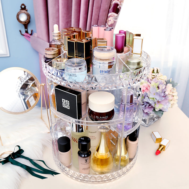 360 Rotatable Acrylic Makeup Organizer (3 DESIGNS)