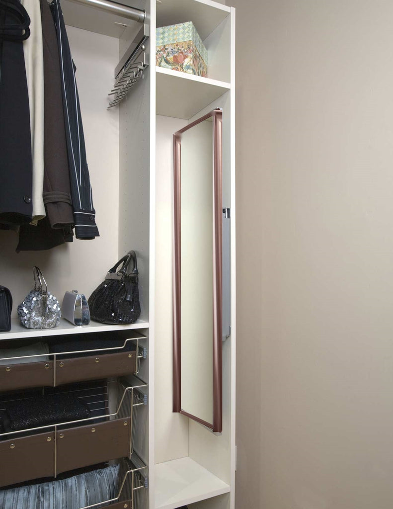 size 40 5c9c2 1da90 Wardrobe Rose gold Pull Out Sliding and Pivoting Mirror ...