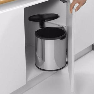 SUS304 Stainless Steel Build-in Cabinet Waste Bin