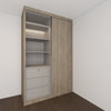 FULLY CUSTOMIZED Sliding Wardrobe with in-built LED sensor light
