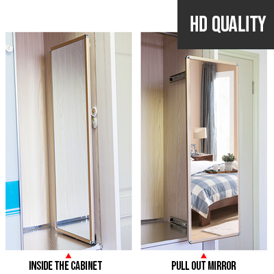 buy popular f534c aad44 Wardrobe Rose gold Pull Out Sliding and Pivoting Mirror
