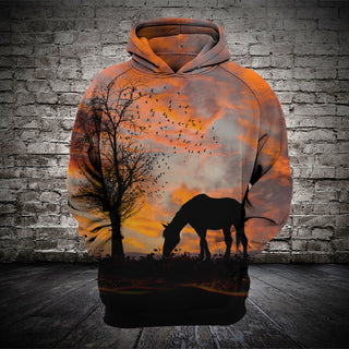 #013 3D printed Horse T-shirt and Hoodie